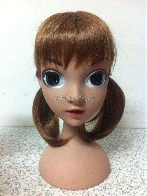 NEW!High quality Unbreakable Realistic Plastic lovely kid/child mannequin Manikin dummy head with hair  for hat display