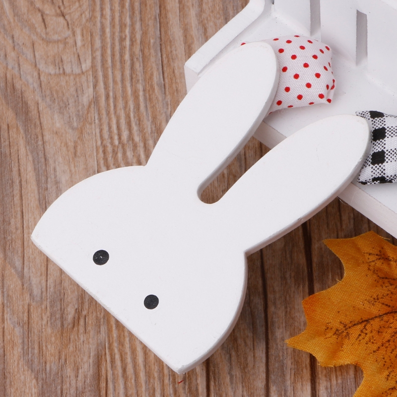 Cute Bunny Cloud Hook Wooden Clothes Hanger Wall Decor Children Bedroom Pendant