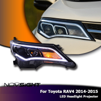 NOVSIGHT 2Pcs Auto Lighting Led Lamps Headilghts Projector DRL Per For Toyota RAV4 2014 2015