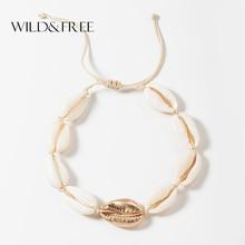 Wild & Free Handmade Conch Shell Bracelets For Women 2019 Summer New Adjustable Gold Seashell Charm Bohemian Jewelry