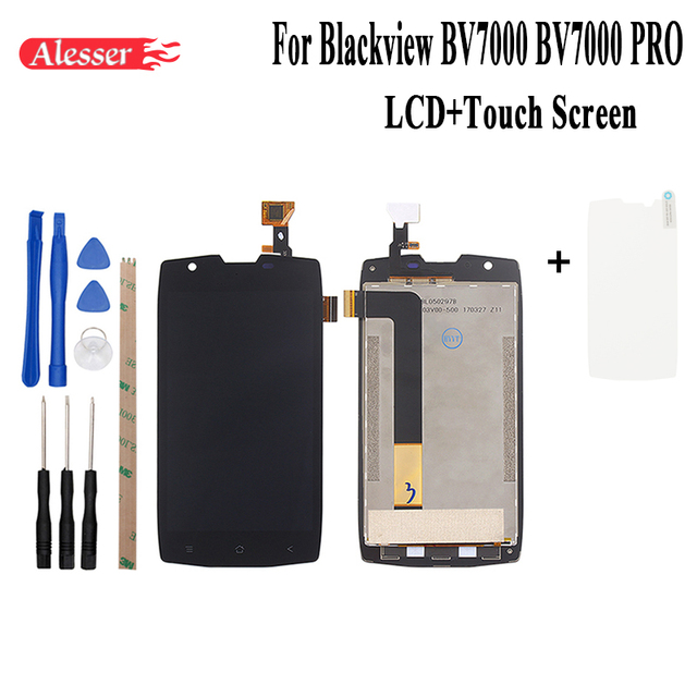 Alesser Blackview BV7000 BV7000 프로 LCD 디스플레이 + 터치 스크린 어셈블리 수리 부품 모바일 액세서리 + 도구 + 접착제 + 필름