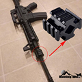 Тактический Универсальный баррель крепление 4 рельса 3 слота 20 мм Рельс Пикатинни/Вивер для сошки прицел оптика Quad рейка крепление