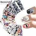 24 листов наклейки для ногтей наклейки для Мэрилин Монро для ногтей Стикеры Одри Hepburnl дизайн наклейки для ногтей Передача Фольга для ногтей ...