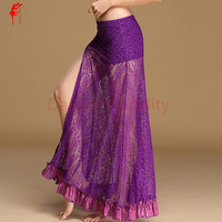 Women belly dance clothes sexy lace belly dance skirt with underwear belly dance skirt girls Practice skirt dancer clothing