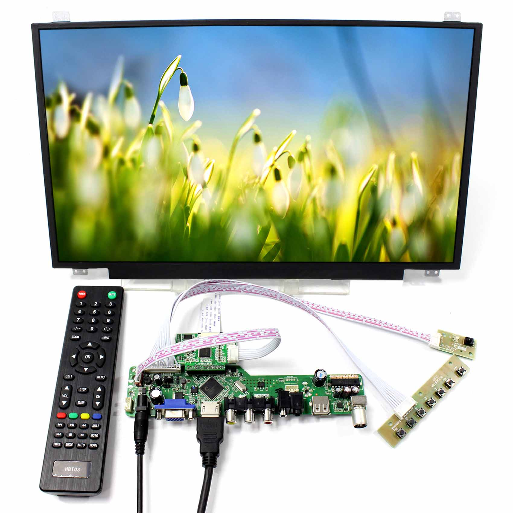 TV HDMI VGA AV USB LCD Controller Board With 17 3inch 1920x1080 N173HCE E31 LCD Screen