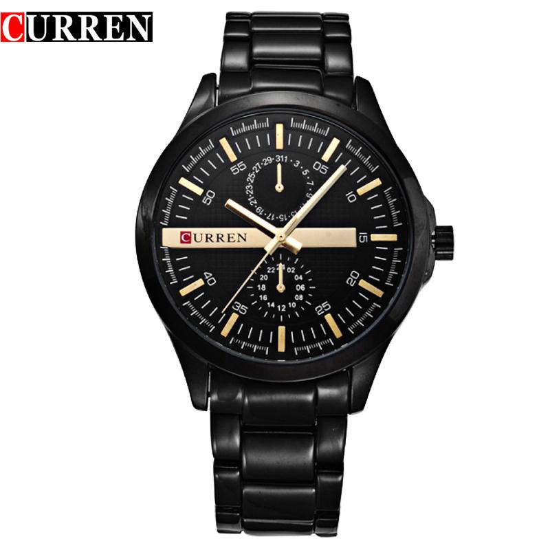 Prix pour Hommes courant d'origine marque de luxe horloge curren 8128 montre-bracelet à quartz