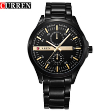Hombre corriente original marca de lujo curren del reloj 8128 reloj de pulsera de cuarzo