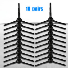 20PCS 10Pair set Side Brush Replacement For Ecovacs CEN540 CR120 For Panda X500 X600 Vacuum Cleaning