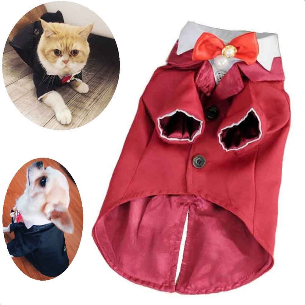 Veshjet e vogla të dasmës për macet Princesha qen Vjeshja për - Produkte për kafshet shtëpiake - Foto 4