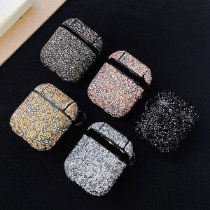 Блестящий жесткий чехол с бриллиантами для Apple Airpods, защитный чехол, беспроводной Bluetooth чехол для наушников, коробка для зарядки, сумка, брело...