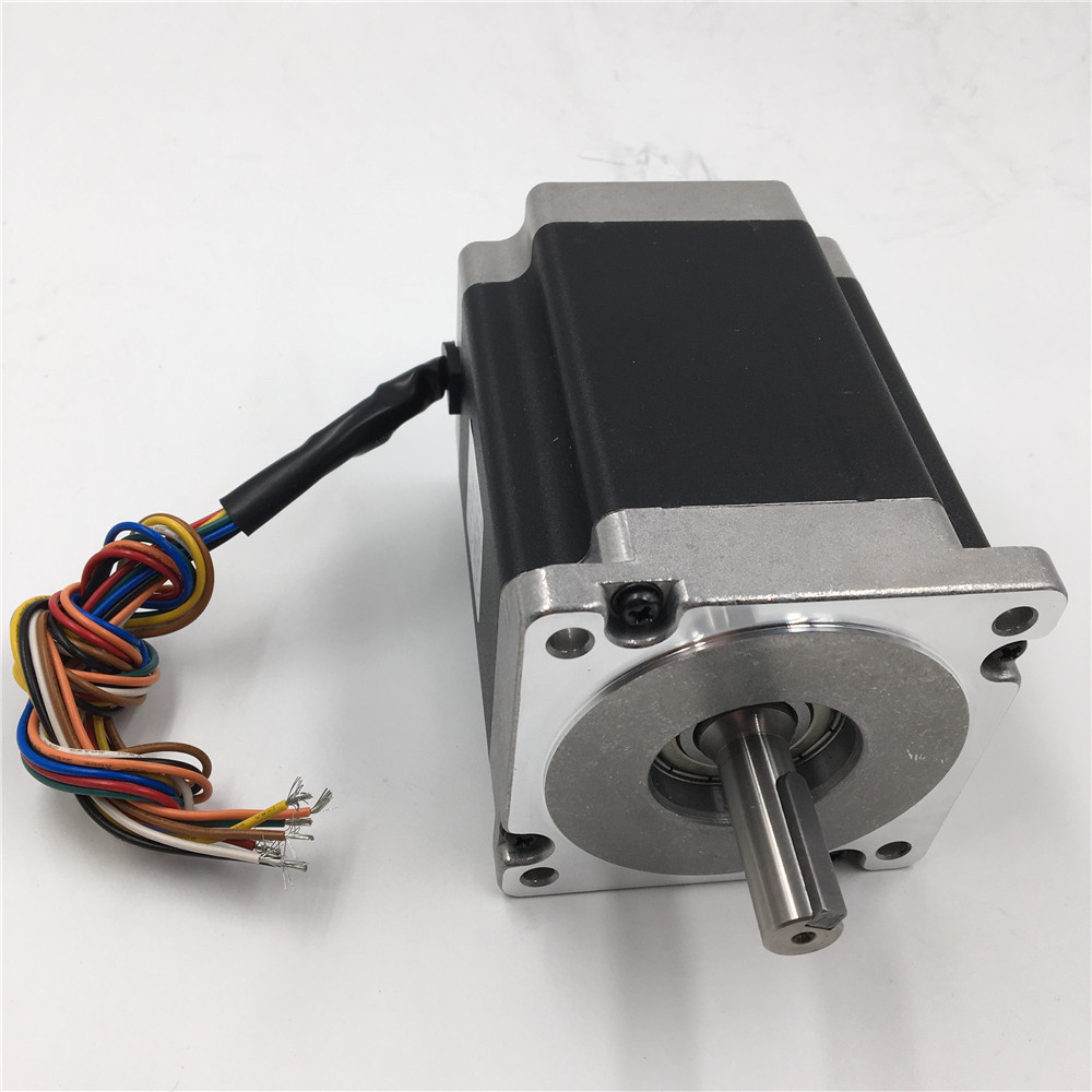 Stepper Motor Nema 34 2 Phase 6A 126mm Motors 1.8 degree 9.5NM/ 1357oz.in Motor/ Device/ Parts Keyway 5mm for CNC Machines vending machine parts 1 sets motor cables for 60 pieces motors