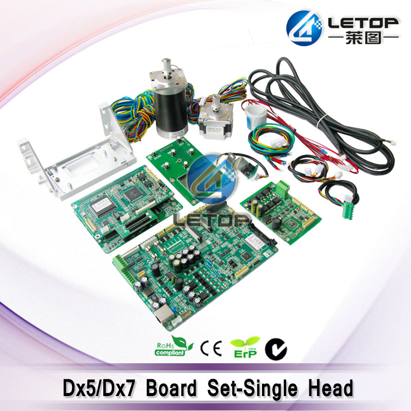 Printer DX5 DX7 head board Printing Circuit Board (Head Board Mainboard with Motor/ Cable for eco solvent printer updated