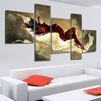 5 Panel Modern Hand Painted Naked Nude Women Girls Canvas Art Painting Cuadros Wall Pictures For Living Room No Frame XY015