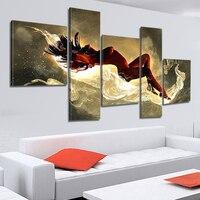 5 Panel Nowoczesne Ręcznie Malowane Nago Nagie Kobiety Dziewczyny Płótnie sztuka Malarstwo Cuadros Zdjęcia Ścienny Do Salonu Bez Ramki XY015