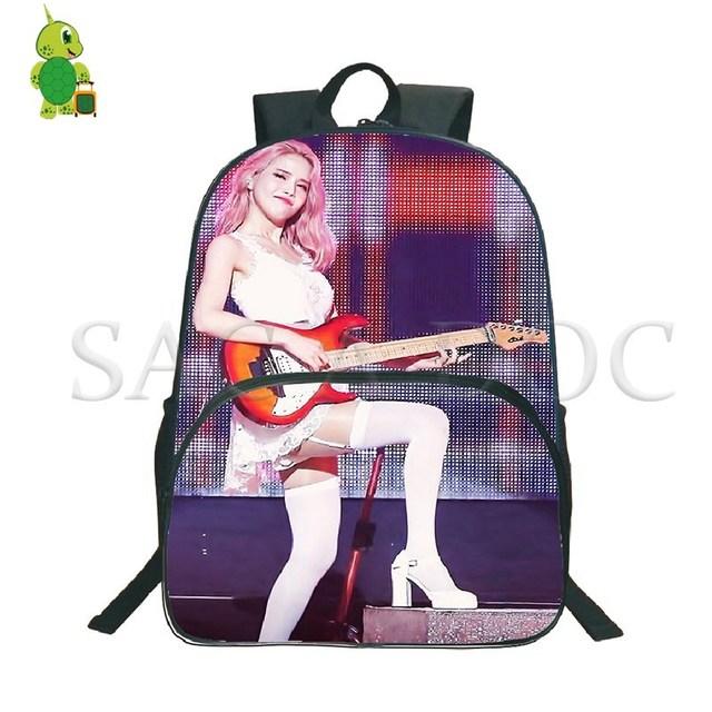 Mamamoo Kpop Solar Backpack School Bags for Teenage Girls Boys Laptop Rusksack Large Capacity Bags Women Men Daily Backpack 1