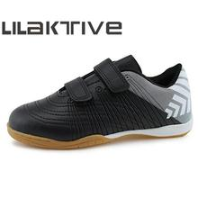 LILAKTIVE Kids Soccer Shoes Boys Professional Indoor Breathable Sneakers Hook & Loop Football Athletics