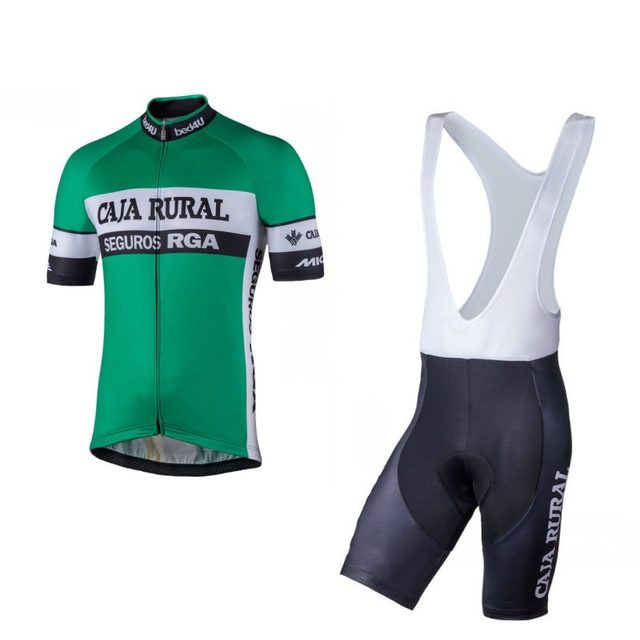 2018 pro team caja rural green cycling jersey kit summer breathable racing bike  clothing MTB Ropa Ciclismo Bicycle maillot gel 70b887b7c