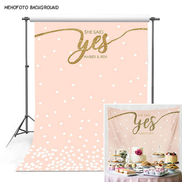 9fee7c9733e MEHOFOTO Wedding Backdrop for Engagement Photography Bridal Shower  Decorations Engagement Party Photo Background for Pictures
