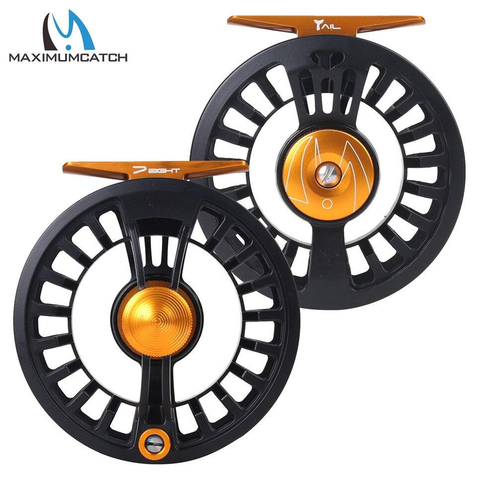Maximumcatch Schwanz 5/6 7/8wt Licht Gewicht Fly Fishing Reel Große Arbor Teflon Disc Schwarz Fly Reel