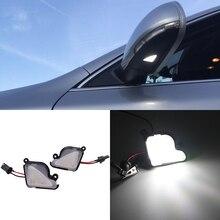 2 шт. 6000K белый светодиодный светильник под боковым зеркалом лужа лампа без ошибок для Skoda Octavia A7 MK3 5E 2012- Skoda superb2