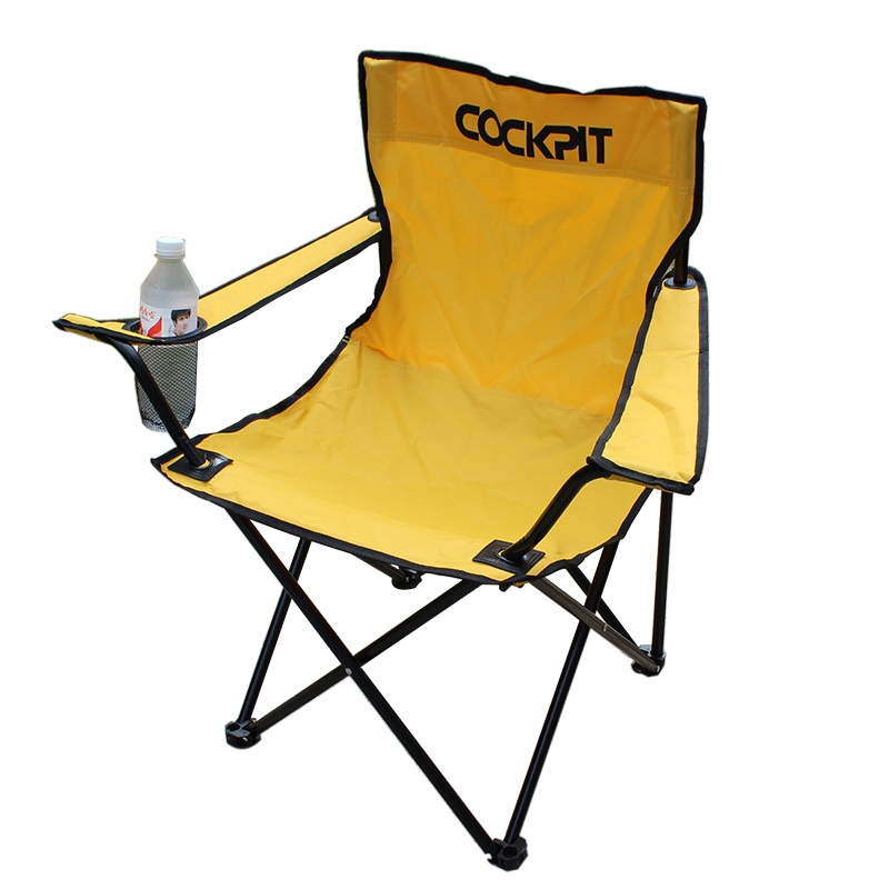 COCKPIT Large Beach Chair Diaoyu With Armrest Water Cup Frame Beach Chair Camping Chai
