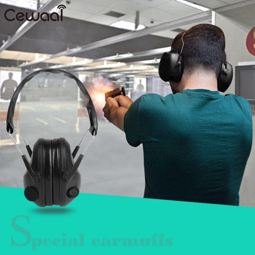 Cewaal Tactical Outdoor Protection Anti-Noise Impact Electronic Earmuff Fold Ear Hearing Sport Hunting Earmuffs Headphone 21SNR