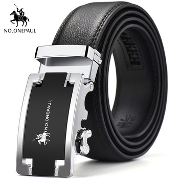 NO.ONEPUL Genuine belt men leather automatic buckle young business casual pure leather middle-aged men  belt student trend match