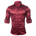 UNIVOS KUNI EU/US Size Men's Business Casual Shirt Big Size Pattern Slim Fit long - sleeved Cotton Shirt chemise homme Z2719