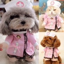 Halloween Party Costume Clothes Pet Dog Cat Costume Suit Puppy Clothes Nurse Outfit Navidad Dress-up Apparel Christmas(China)
