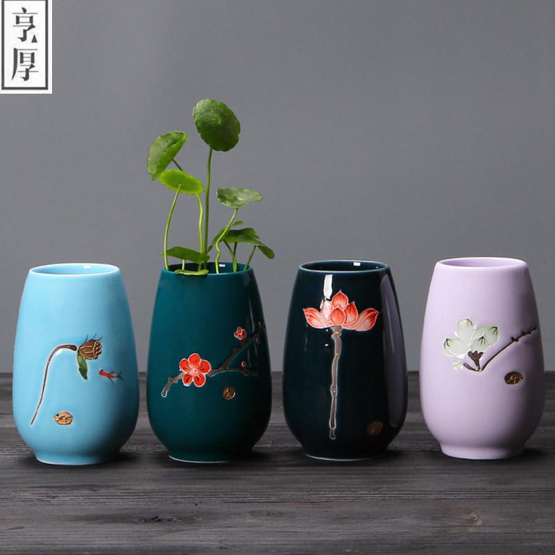 jarrones de decoracin antigua olla de porcelana pintada a mano de cermica del florero jarrn de