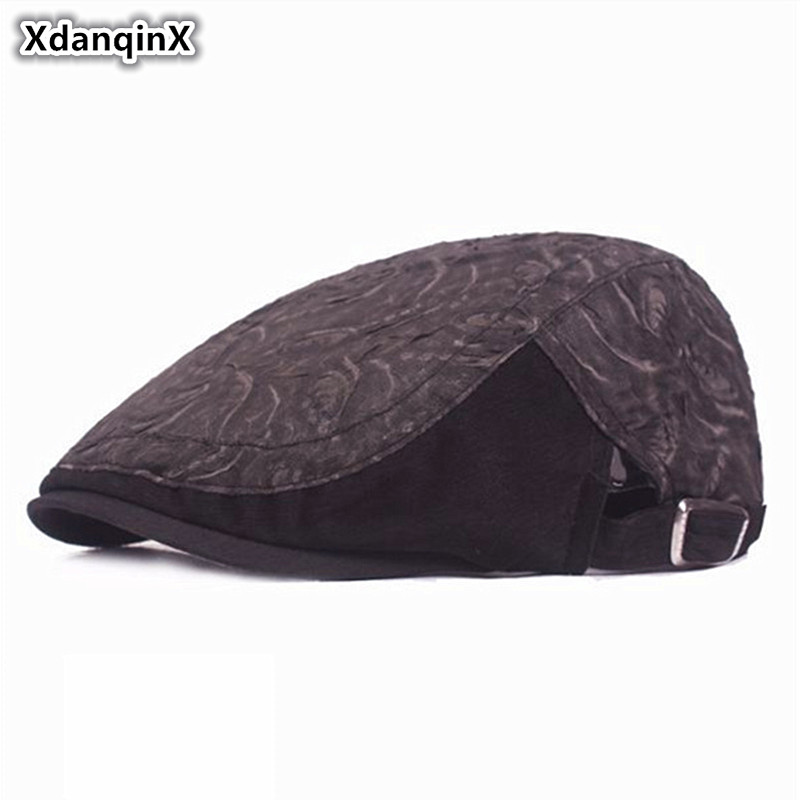 XdanqinX Adult Womens Summer Lace Mesh Yarn Breathable Berets National Style Thin And Light Ventilation Hats For Woman New