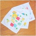 2 unidades de la mano niños towel capucha towel toallas de los niños para bebés de baño cocina towel toalla de mano de dibujos animados de gasa bebé tmj12