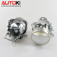 Free Shipping Autoki 3.0inch Bos ch E46 H7 Bi xenon Projector Lens Replacement for BMW E46 Use H7 bulb