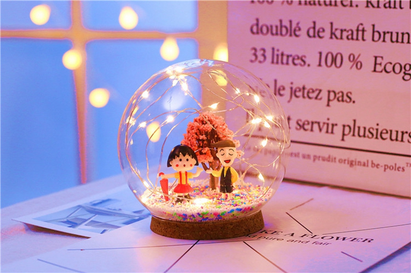 Creative LED Crystal Ball Design Table Lamp Room Decor Bedside Night Light For Girls Baby New Year Christmas Birthday Gift (14)