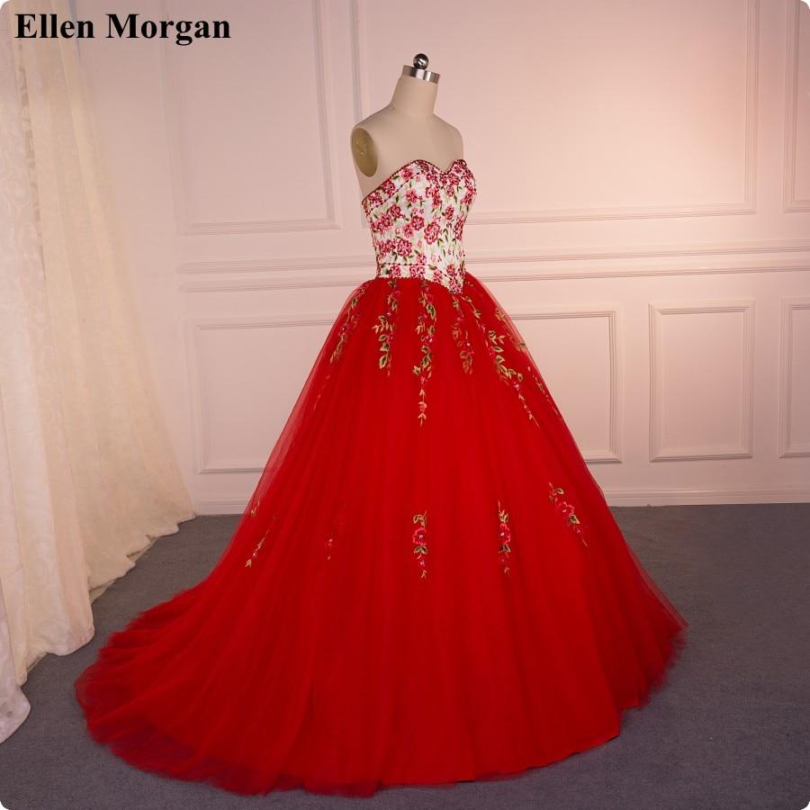 Vestidos de Boda de La Princesa roja con Bordado 2017 Real Fotos ...