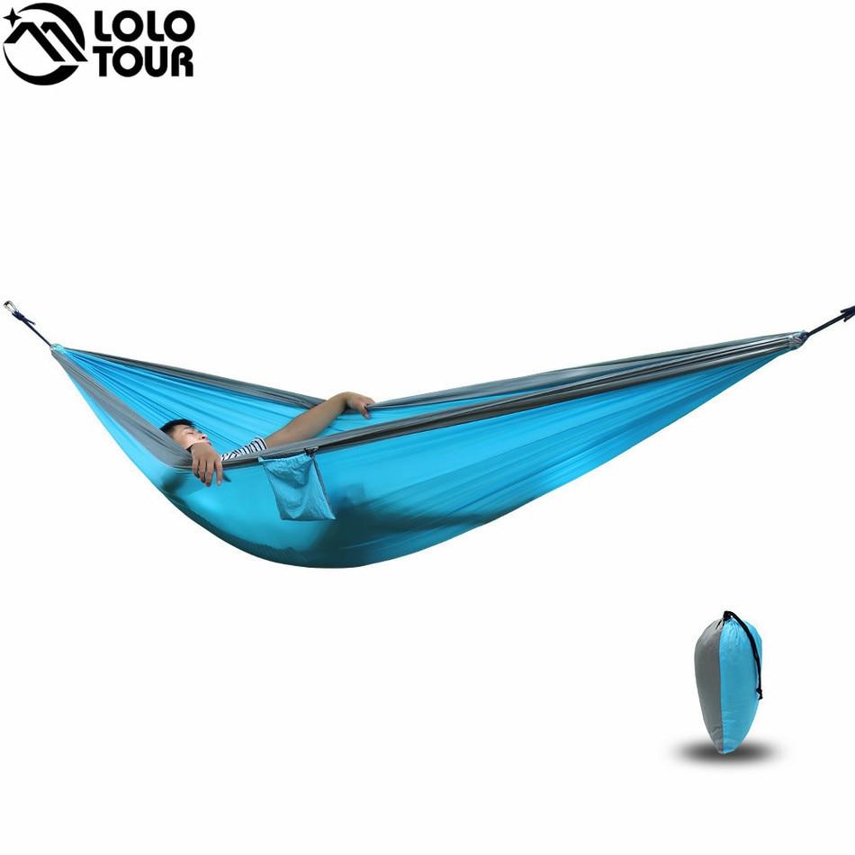 Hangmat 300 Cm.Ultra Grote Dubbele Parachute Hangmat 2 Camping Leisure Patio Tuin