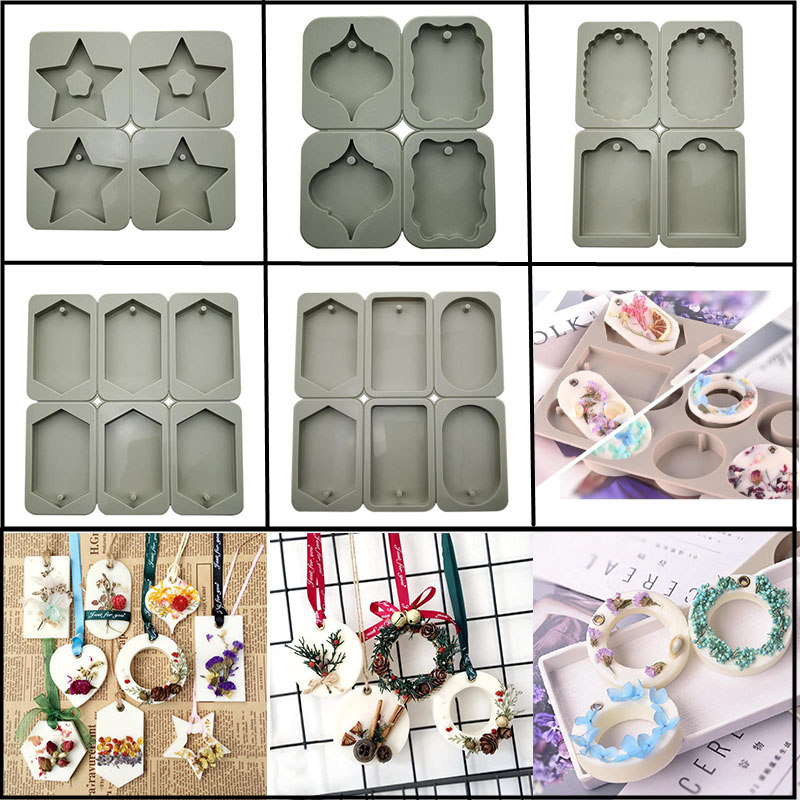 MILIVIXAY 1Pcs DIY Silicone Candle Wax Mold Handmade Soap Mold Flowers Clay Mold Crafts Hanging Ornaments Resin Wax Mould