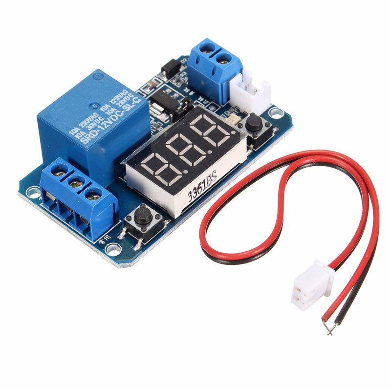 12V LED Display Digital Programmable Timer Timing Relay Switch Module Self-lock Board Stable Performance dc 12v led display digital delay timer control switch module plc automation new 828 promotion