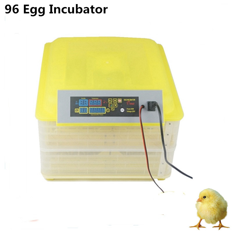 Fully Automatic Egg Incubator Mini Industrial Brooder Hatchery Machine For Hatching 96 Chicken Duck Quail Poultry Eggs цена и фото