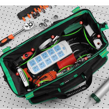 AIRAJ 13/16/18/20 inch New Tool Bag, Large Capacity Waterproof Electrician Bag Plastic Bottom Men\'s Oblique Bag Tool