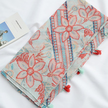 Cotton and Linen Scarves Literary Small Fresh New Retro Ethnic Style Tassel Decorative Sunscreen Shawl Beach Towel