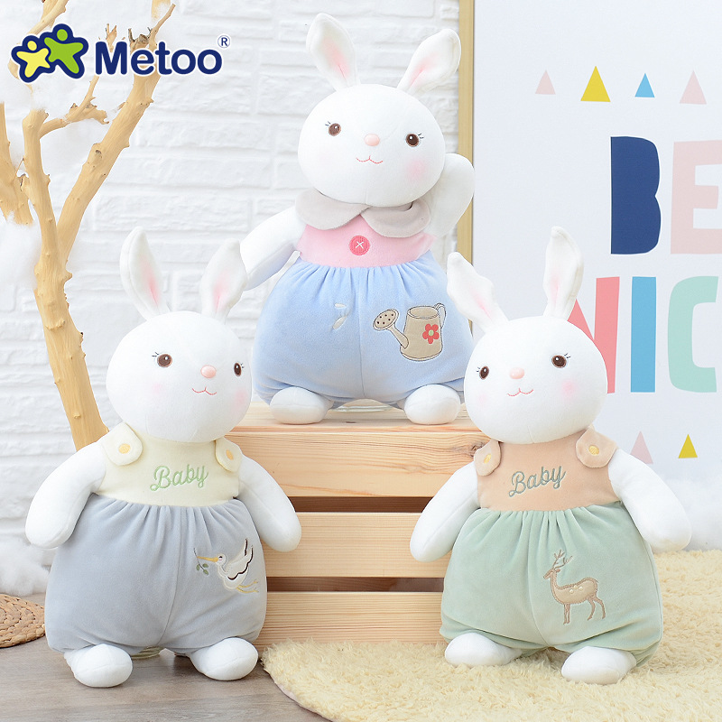 где купить 39cm Plush Sweet Cute Lovely Stuffed Baby Kids Toys for Girls Birthday Christmas Gift Tiramitu Rabbits Mini Metoo Doll дешево