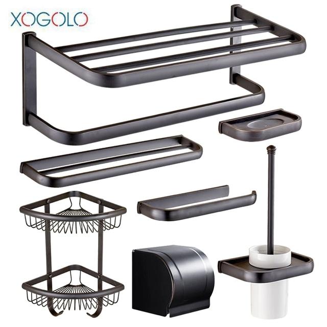 Bathroom Hardware Sets Nickel.Xogolo Copper Nickel Brushed Wall Mounted Black Bath Hardware Sets