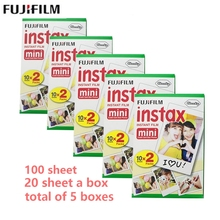 Fujifilm Fuji Instax Mini 8 100 sheet film for Fujifilm Instant Mini 7s 25 50s 90 Camera Fuji Instax White Edge Photo film Paper