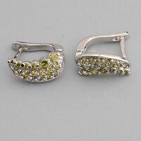 Flawless Olivine Peridot 2 2mm Semi Precious Silver Cool For Womens Earrings ED0712