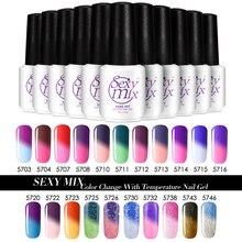 Sexy mix nail polish color change temperature gel nail design DIY full set 25 colors available Soak off UV gel polish gel nails