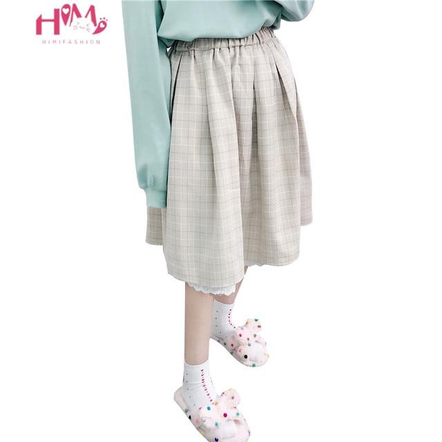 2018 japoneses suave hermana Kawaii faldas las mujeres verano Lolita de  cintura alta falda de moda b6e5b5c658bd