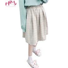 2020 japoński miękkie dziewczyna spódnice kawaii kobiety lato Lolita wysoka talia spódnica Vintage słodkie kratę koronkowa linia Tutu spódnica trzy czwarte