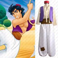 Cartoon Animation Aladdin Prince Cosplay Costume Men Cosplay Clothes Set New
