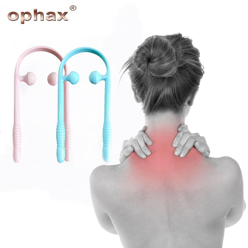 OPHAX Neck Massager Für Hals Schulter Taille Unteren Bein Zervikale Massager Dual Trigger Punkt Therapeuten Hände Entspannung Gerät
